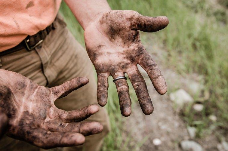 hard work, hustle, dirty hands